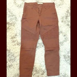 Abercrombie and Fitch Rust moto pants